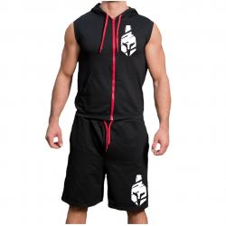 Комплект суичър с цип  и шорти Spartan