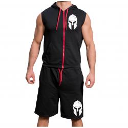 Комплект суичър с цип и шорти Spartan Dis
