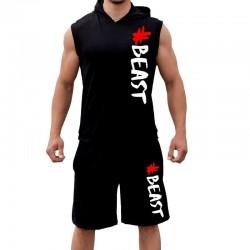 Комплект суичър и шорти #Beast