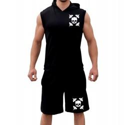 Комплект суичър и шорти gym Skeleton